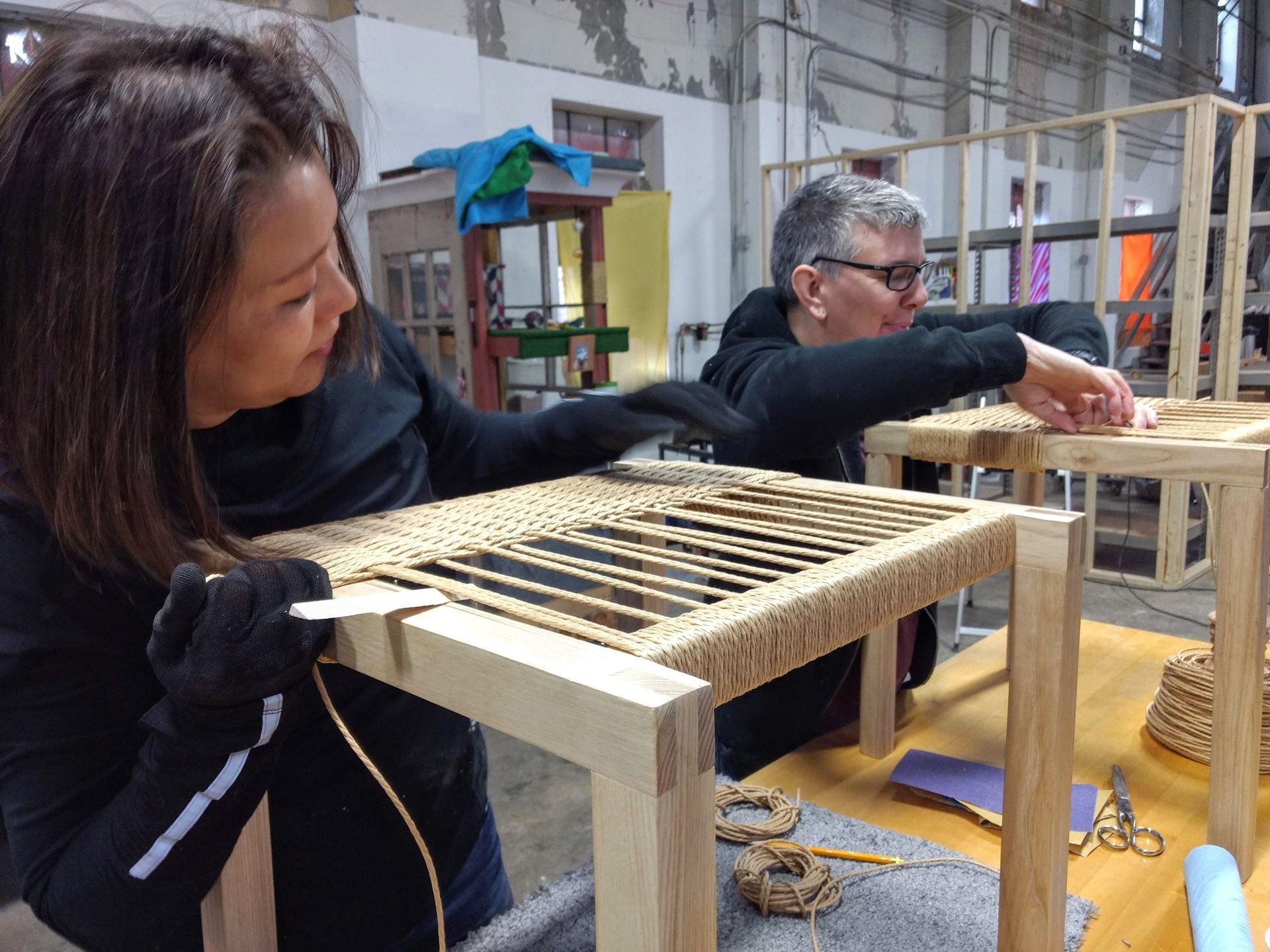 a workshop of our own - build, weave, take a seat